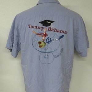 Tommy Bahama Blue Class of 2006 Glassmates Shirt L